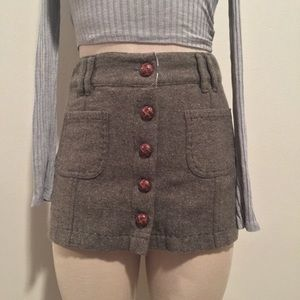 Wool Micro Mini Skirt